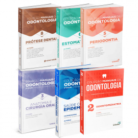 Coleção de Manuais da Odontologia para Concursos e Residências (Volumes 1, 2, 3, 5, 6 e 8)