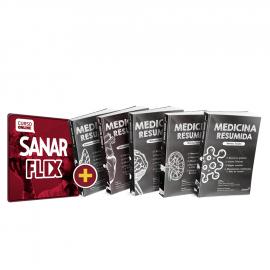 Coleção Medicina Resumida 1 à 5 + SanarFlix Anual