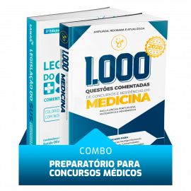 Combo Concursos Médicos: 1.000 Questões Comentadas de Concursos e Residências em Medicina + Legislação do SUS