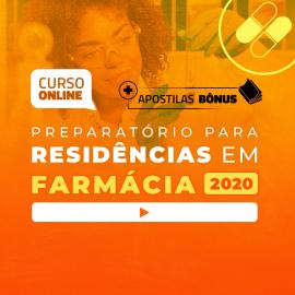 Preparatório Online Extensivo para Residências em Farmácia 2020 (Sem Livro)