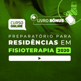 Preparatório Online Extensivo para Residências em Fisioterapia 2020 (Sem Livro)