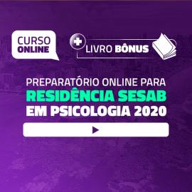 Preparatório Online para Residência SESAB em Psicologia 2020 + Livro BÔNUS
