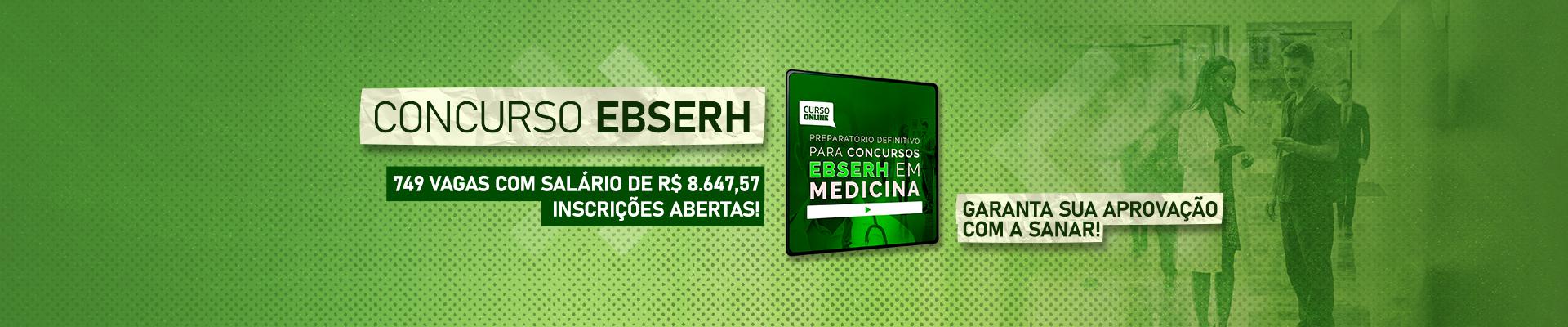 Lançamento Concursos EBSERH para Médico